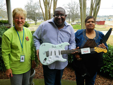 Alabama Shakes Autographed Guitar Delivered By Father and Grandmother Of  lead singer Brittany Howard.