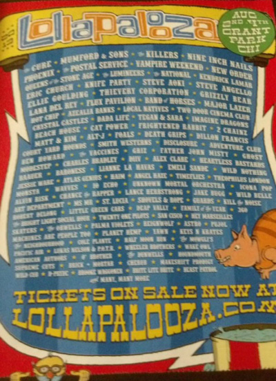 Lollapalooza Leaked Lineup Poster