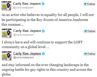 Carly Rae Jepsen Gay Rights Twitter