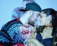 ariana grande, mac miller, the way, music video, kiss