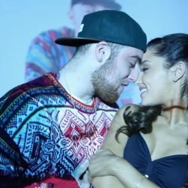 ariana grande, mac miller, the way, music video, kiss