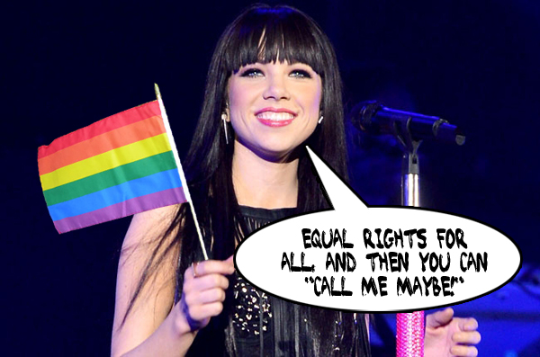 Carly Rae Jepsen Gay Pride Call Me Maybe