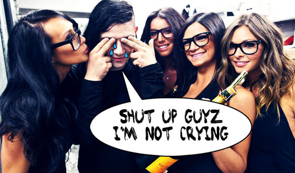 Skrillex Sad Crying