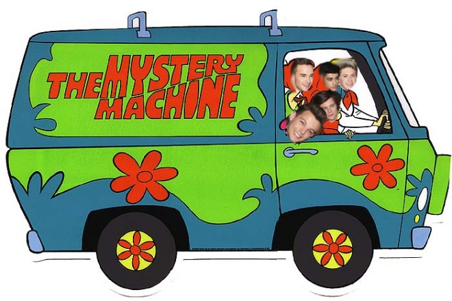 one direction, 1d, scooby doo
