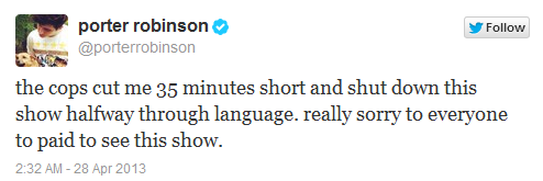 Porter Robinson Tweet