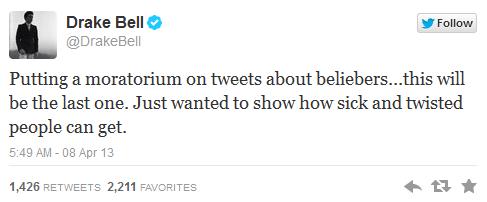 Drake Bell Justin Beiber Tweets