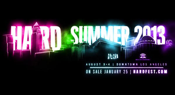 Hard Summer 2013 Lineup Announced