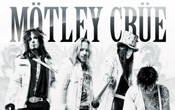 Motley Crue Vince Neil Tommy Lee Nikki Sixx Mick Mars Black And White
