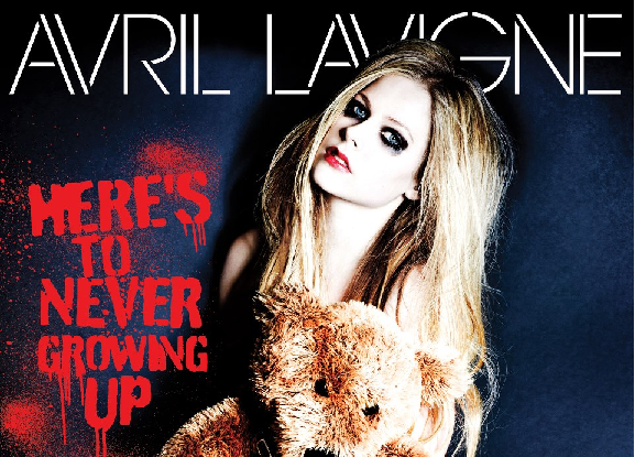 avril lavigne, here's to never growing up, single art
