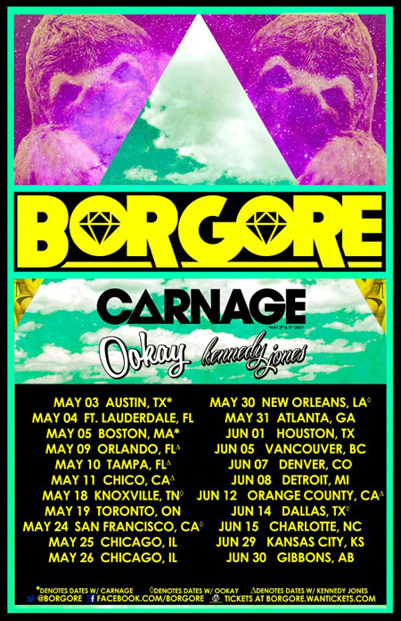 Borgore Launches Spring Tour Carnage Ookay Kennedy Jones