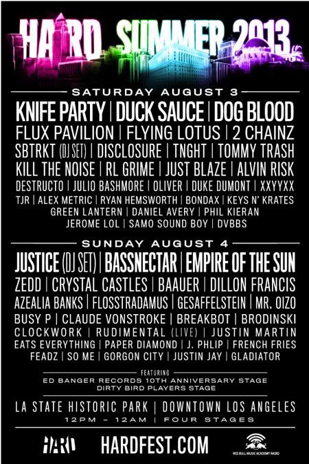 Hard Summer Announces 2013 Lineup