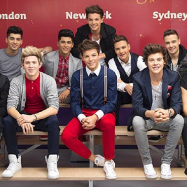 One Direction Wax Figures