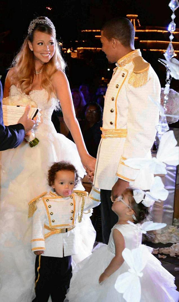 Mariah Carey Nick Cannon Dem Babies Disney Vow Renewal Ceremony