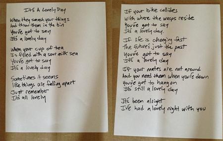 Ian Rubbish Fred Armisen Lovely Day Lyrics