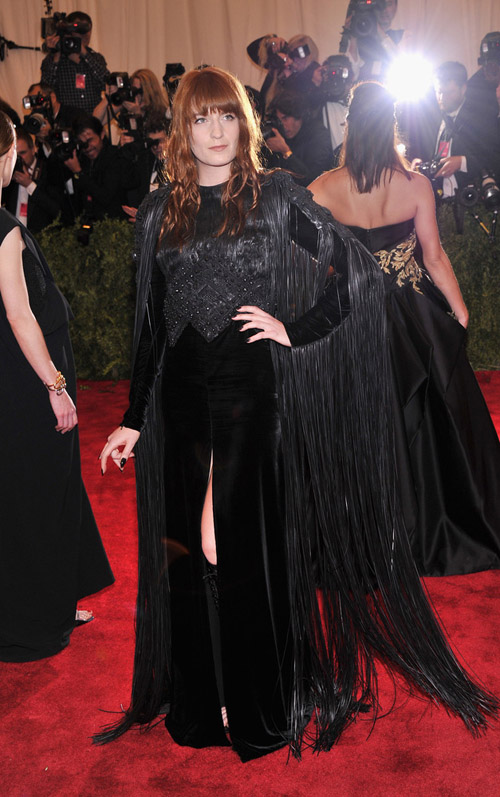 Florence Welch: brings the first bit of true darkness to the Gala. I approve.
