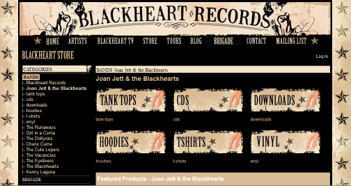 Blackheart Records Online Store