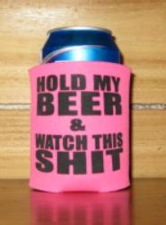 Pink Beer Koozie